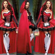 Red Riding Hood Halloween Costumes Halloween Party Deluxe Red Riding Hood Costume Zombie