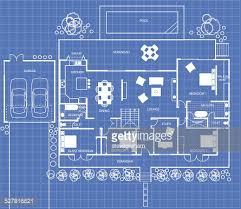 floor plan blueprint house floor plan on a blueprint vector getty images