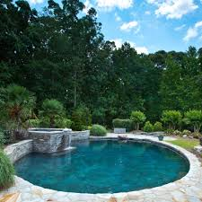 good looking banana leaf furniture pool with grass patio