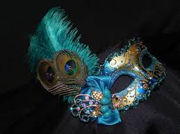 teal masquerade masks masquerade mask in shades of teal turquoise and gold with peacock