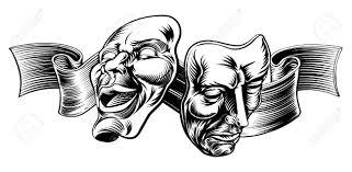 vintage masks an original illustration of theatre masks comedy and tragedy