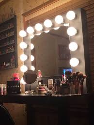 making a vanity makeup mirror with light bulbs u2014 doherty house