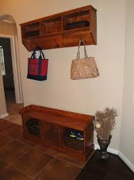 Home Decorators Bench by Brown Teak Wood Shoe Storage Bench Combined With Mounted Wall F