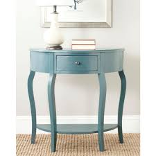 Small Console Table Safavieh Jan Demilune Navy Storage Console Table Amh6569c The