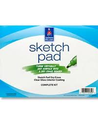sherwin williams has a sketch pad dry erase coating that you