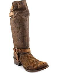 corral womens boots sale corral s chocolate slouch harness top boots