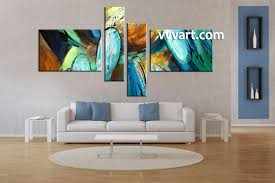 Living Room Paintings 4 Piece Colorful Oil Paintings Abstract Modern Canvas Art