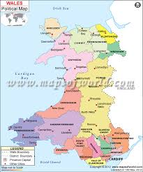 where is wales on the map political map of wales