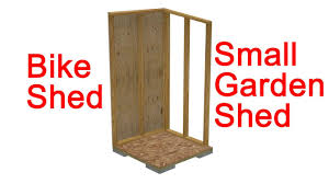 Plans To Build A Small Wood Shed by Small Garden Shed Or Bike Shed Construction Details Youtube