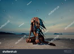 indian woman outdoors sunset native american stock photo 420044398