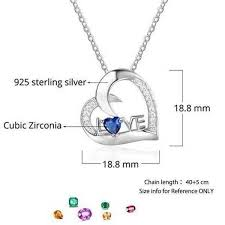 pendant engraving sterling silver pendant w custom engraving and birthstone