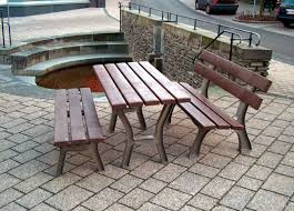 Recycled Plastic Outdoor Furniture Traditional Bench And Table Set Recycled Plastic Outdoor For