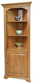 Corner Bookcase Oak Corner Bookcase W Door Fixed Shelves Oak Ply Shelves Accent