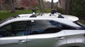lexus rx400h roof box roof rx u0026 lexus rx 350 roof rack thule traverse square bar roof