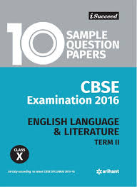 cbse 10 sample question paper english language u0026 literature for