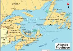 map of east canada earth map major tourist attractions maps
