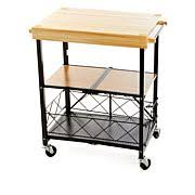 folding kitchen island origami folding kitchen island cart with casters 8090466 hsn