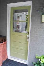 Exterior Back Doors Gray And A Green Door Plus Like Color Grouping