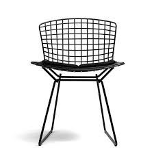 Bertoia Dining Chair Knoll Bertoia Side Chair With Seat Pad Dining Chairs Furniture