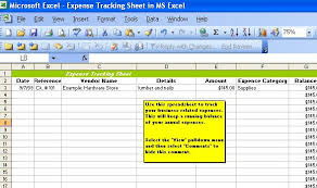 Microsoft Excel Expense Tracker Template Handyman Business Forms Templates