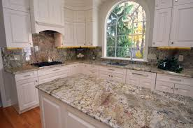 Backsplash In Kitchen Granite Kitchen Countertops W Full Height Backsplash Italian