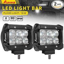 led work lights for trucks amazon com led lights bars aaiwa led work lights 4inch 18w flood