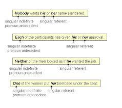 pronoun antecedent agreements