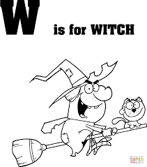 letter witch coloring free printable coloring pages