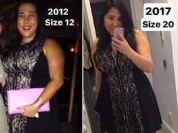 a size 16 fit into a size 8 dress on instagram insider