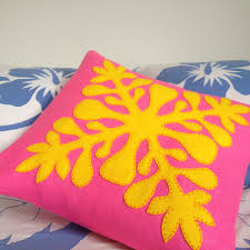 tivaevae pillows made of felt pacific love pinterest felting