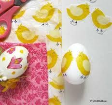 styrofoam easter eggs tissue paper decoupage eggs