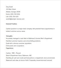 Resumes Com Samples by Cashier Resume Template U2013 16 Free Samples Examples Format