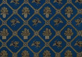 trellis wallpaper royal blue black gold metallic