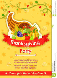 thanksgiving party invite happy thanksgiving party invitation background stock vector
