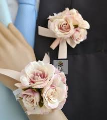 cheap corsages for prom envío gratis 2016 nuevo 12 colores novia novio ramilletes de bodas