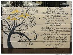 the lord u0027s prayer family tree custom painted wood sign