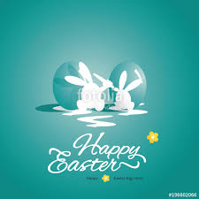 happy green color happy easter background rabbit eggs sea green color stock image and