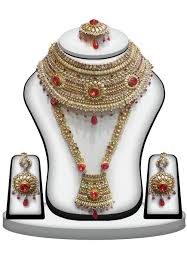 bridal necklace set images Polki studded bridal necklace set jjr14552 jpg