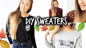 diy sweater 3 easy affordable diy sweaters for fall