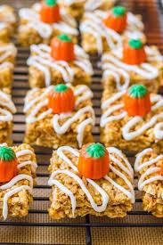 rice crispy treat pumpkins pumpkin pie rice krispie treats sallys baking addiction