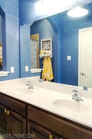 Large Framed Bathroom Wall Mirrors Wall Mirrors Bathroom Mirror Makeover Via Makelyhomecom
