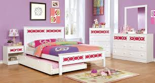 Youth Bed Sets by Cm7853pk 4pc Youth Bedroom Set In White U0026 Pink W Options