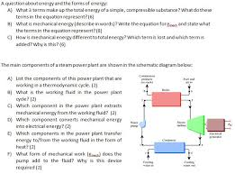 a question about energy and the forms of energy