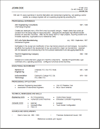 sample engineering resume mechanical engineer free download format