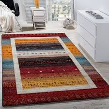 Modern Patterned Rugs by Modern Loribaft Designer Rug Nomadic Border Patterned Gabbeh