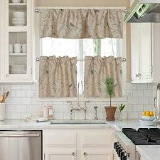 Kitchen Valances And Tiers by Birds Kitchen Curtains Amazon Com