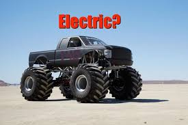 bigfoot ev monster truck runs electricity fast