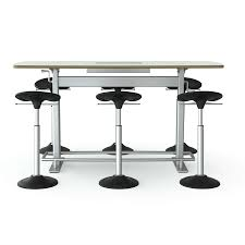 Bar Height Conference Table Focal Upright Confluence 6 Height Adjustable Meeting Table Fct