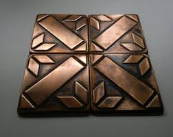 We Make Quality Metal Accessories For House By MyCopperCraft - Copper tiles backsplash