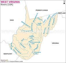 West Virginia rivers images Virginia rivers map jpg